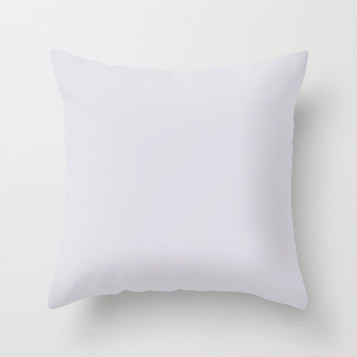 Sherwin Williams Trending Colors of 2019 Elation (Soft Pastel Lilac Purple) SW 6827 Solid Color Throw Pillow