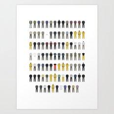 Walter White's Wardrobe - Season 5A Art Print