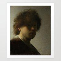 Self Portrait (young) by Rembrandt van Rijn Art Print