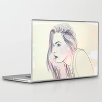 cara Laptop & iPad Skins featuring Cara by Guadalupe Jiménez