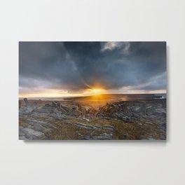 Aran Island Ireland sunrise Metal Print