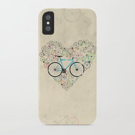 I Love My Bike iPhone Case