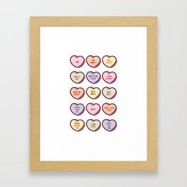 Pastel No Conversation Hearts Framed Art Print
