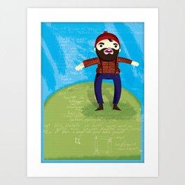 Timberjack Art Print