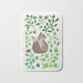 There is a fox in the forest painting Bath Mat