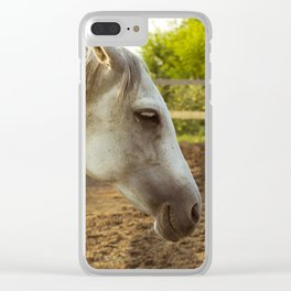 Smoked drunk horse Clear iPhone Case