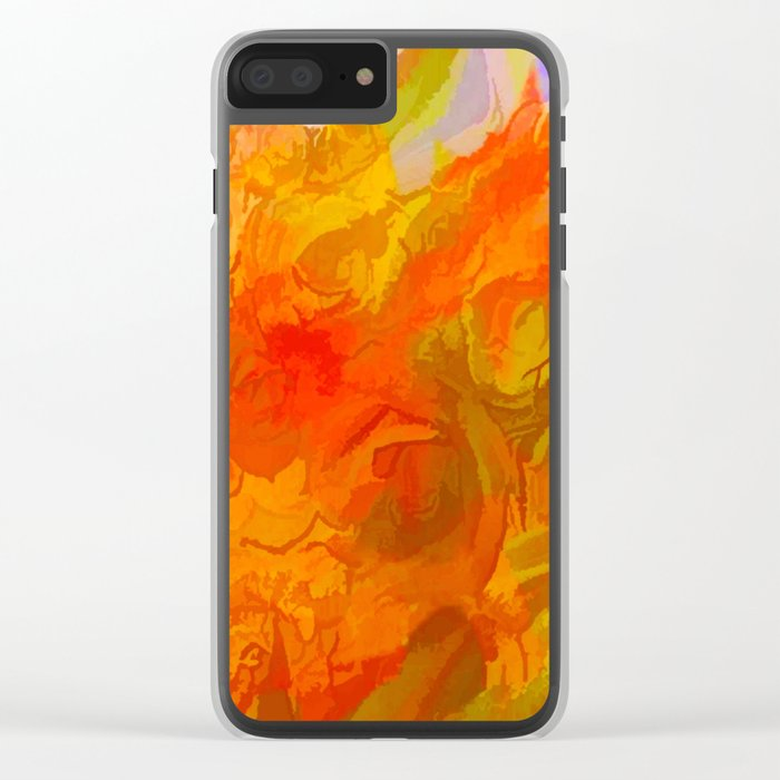 Vibrant Summer Clear iPhone Case