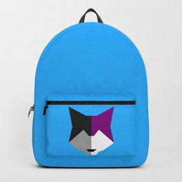 Asexual pride wolf Backpack
