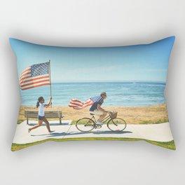 America flag bicycle Rectangular Pillow