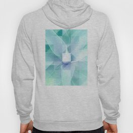 Soft Geo Agave - Aqua and blue Hoody