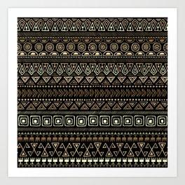 Ethnic tribal Pattern Art Print