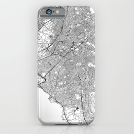Athens White Map iPhone Case