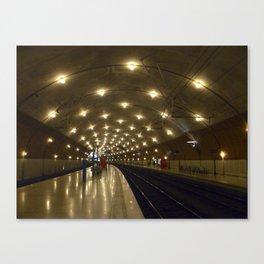 Monaco Train Station Canvas Print