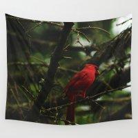 cardinal Wall Tapestries featuring Cardinal by Tarraf Photography