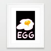 egg Framed Art Prints featuring EGG by lemonteaflower
