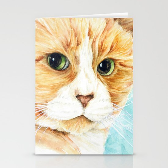 Stan the grumpy cat Stationery Cards