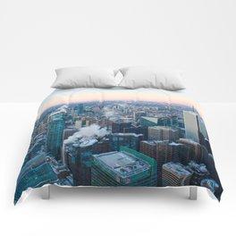 Toronto Sunset Comforters