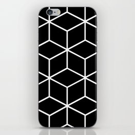 Black and White - Geometric Cube Design II iPhone Skin