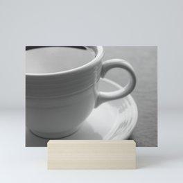 Coffee Cup Black and White Photo Mini Art Print