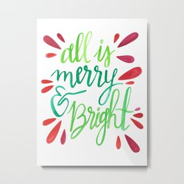 All is Merry and Bright Metal Print