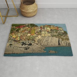 Of Houses and Hills Rug
