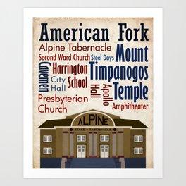 Travel - American Fork Art Print