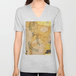 Water Serpents - Gustav Klimt Unisex V-Neck