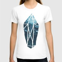 geode T-shirts featuring Aquamarine Gem Dreams by Leah Flores