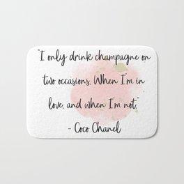 Champagne love II Bath Mat