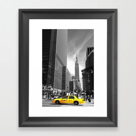 The yellow cab Framed Art Print