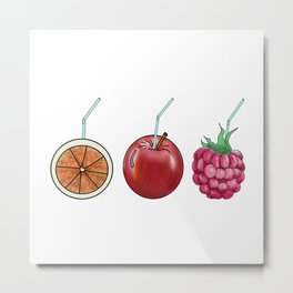 fresh fruit and cocktail rolls Metal Print