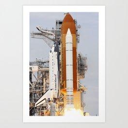 671. Space Shuttle Atlantis Art Print
