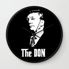 The Don Donald Trump Godfather Parody #society6 #decor #buyart #artprint Wall Clock