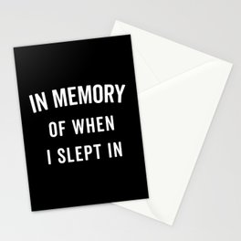 Memory Slept In Funny Quote Stationery Cards
