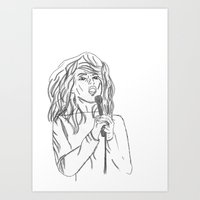 blondie Art Prints featuring Blondie by Genevieve Moye