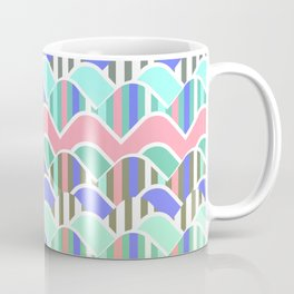 Colorful waves- upside down Coffee Mug