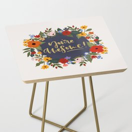 You're awesome quote Side Table