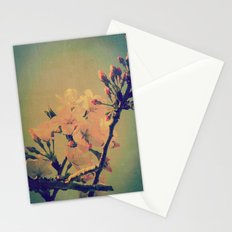 Cherry Tree Flowers Blossoms and Buds Vintage Spring Botanical Stationery Cards
