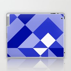 Blue and White Geometric Abstract Laptop & iPad Skin