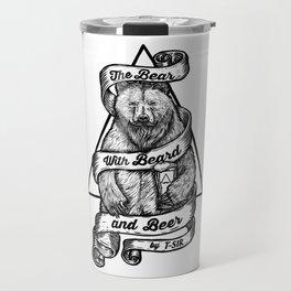 The Bear with Beard and Beer Travel Mug