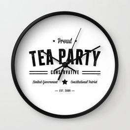 Tea Party Conservative Wall Clock