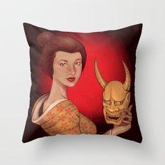 Hannya Throw Pillow