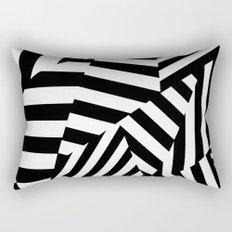 RADAR/ASDIC Black and White Graphic Dazzle Camouflage Rectangular Pillow