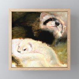 Ferret Mommy Framed Mini Art Print