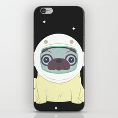 Pug in Space iPhone & iPod Skin