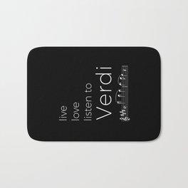Live, love, listen to Verdi (dark colors) Bath Mat