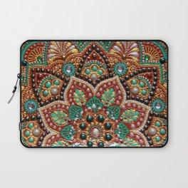 Copper flower mandala Laptop Sleeve