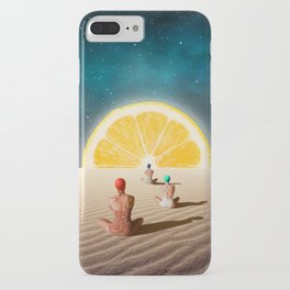 Desert Moonlight Meditation iPhone Case