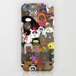 Bears Gone Wild iPhone Case