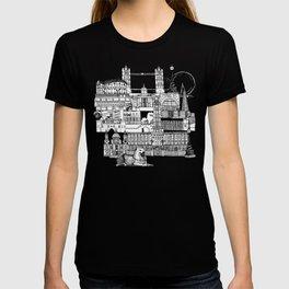 London toile black white T-shirt